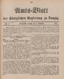 Amts-Blatt der Königlichen Regierung zu Danzig, 8. November 1902, Nr. 45