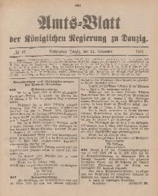 Amts-Blatt der Königlichen Regierung zu Danzig, 22. November 1902, Nr. 47