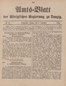 Amts-Blatt der Königlichen Regierung zu Danzig, 6. Dezember 1902, Nr. 49