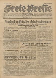 Freie Presse, Nr. 168 Montag 22. Juli 1929 5. Jahrgang
