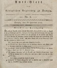 Amts-Blatt der Königlichen Regierung zu Danzig, 6. Februar 1823, Nr. 6