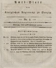 Amts-Blatt der Königlichen Regierung zu Danzig, 20. Februar 1823, Nr. 8