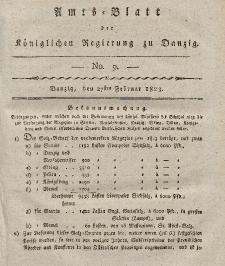 Amts-Blatt der Königlichen Regierung zu Danzig, 27. Februar 1823, Nr. 9