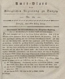 Amts-Blatt der Königlichen Regierung zu Danzig, 6. März 1823, Nr. 10