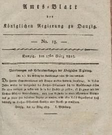Amts-Blatt der Königlichen Regierung zu Danzig, 27. März 1823, Nr. 13