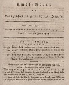Amts-Blatt der Königlichen Regierung zu Danzig, 5. Juni 1823, Nr. 23