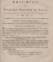 Amts-Blatt der Königlichen Regierung zu Danzig, 7. August 1823, Nr. 32