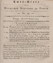 Amts-Blatt der Königlichen Regierung zu Danzig, 28. August 1823, Nr. 35
