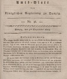 Amts-Blatt der Königlichen Regierung zu Danzig, 4. September 1823, Nr. 36