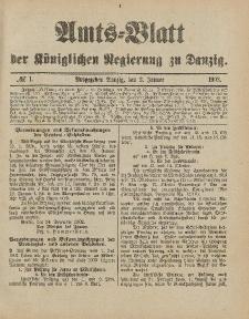 Amts-Blatt der Königlichen Regierung zu Danzig, 3.Januar 1903, Nr. 1