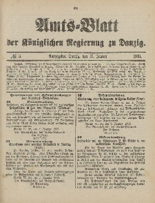 Amts-Blatt der Königlichen Regierung zu Danzig, 17.Januar 1903, Nr. 3