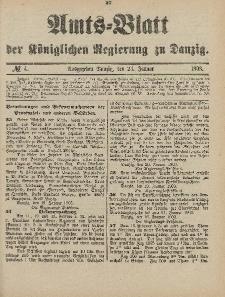 Amts-Blatt der Königlichen Regierung zu Danzig, 24.Januar 1903, Nr. 4
