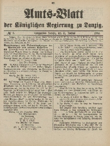 Amts-Blatt der Königlichen Regierung zu Danzig, 31.Januar 1903, Nr. 5