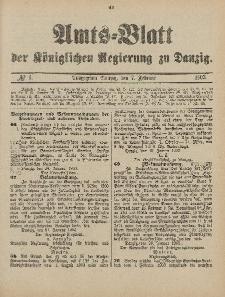 Amts-Blatt der Königlichen Regierung zu Danzig, 7. Februar 1903, Nr. 6