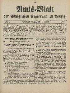 Amts-Blatt der Königlichen Regierung zu Danzig, 14. Februar 1903, Nr. 7