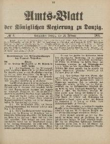 Amts-Blatt der Königlichen Regierung zu Danzig, 21. Februar 1903, Nr. 8