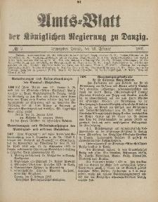 Amts-Blatt der Königlichen Regierung zu Danzig, 28. Februar 1903, Nr. 9