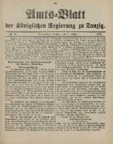 Amts-Blatt der Königlichen Regierung zu Danzig, 7. März 1903, Nr. 10