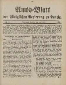 Amts-Blatt der Königlichen Regierung zu Danzig, 14. März 1903, Nr. 11