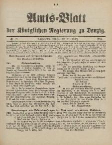 Amts-Blatt der Königlichen Regierung zu Danzig, 21. März 1903, Nr. 12