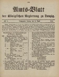 Amts-Blatt der Königlichen Regierung zu Danzig, 11. April 1903, Nr. 15