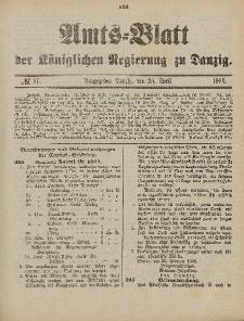 Amts-Blatt der Königlichen Regierung zu Danzig, 25. April 1903, Nr. 17