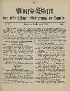 Amts-Blatt der Königlichen Regierung zu Danzig, 2. Mai 1903, Nr. 18