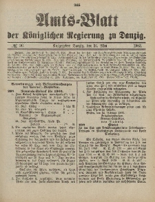 Amts-Blatt der Königlichen Regierung zu Danzig, 21. Mai 1903, Nr. 20