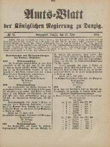 Amts-Blatt der Königlichen Regierung zu Danzig, 23. Mai 1903, Nr. 21