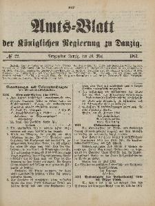 Amts-Blatt der Königlichen Regierung zu Danzig, 30. Mai 1903, Nr. 22