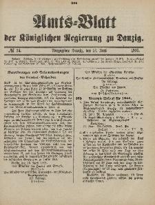 Amts-Blatt der Königlichen Regierung zu Danzig, 13. Juni 1903, Nr. 24