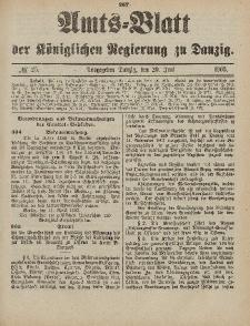 Amts-Blatt der Königlichen Regierung zu Danzig, 20. Juni 1903, Nr. 25