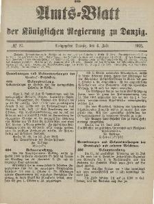 Amts-Blatt der Königlichen Regierung zu Danzig, 4. Juli 1903, Nr. 27
