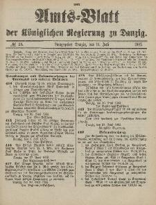 Amts-Blatt der Königlichen Regierung zu Danzig, 11. Juli 1903, Nr. 28