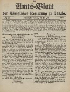 Amts-Blatt der Königlichen Regierung zu Danzig, 18. Juli 1903, Nr. 29