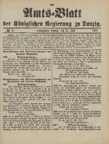 Amts-Blatt der Königlichen Regierung zu Danzig, 25. Juli 1903, Nr. 30