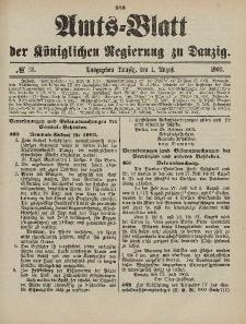 Amts-Blatt der Königlichen Regierung zu Danzig, 1. August 1903, Nr. 31