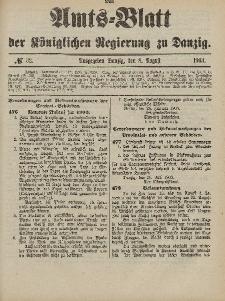 Amts-Blatt der Königlichen Regierung zu Danzig, 8. August 1903, Nr. 32