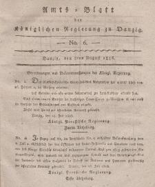 Amts-Blatt der Königlichen Regierung zu Danzig, 8. August 1816, Nr. 6