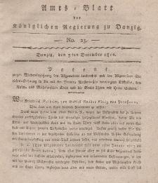 Amts-Blatt der Königlichen Regierung zu Danzig, 5. Dezember 1816, Nr. 23