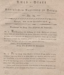 Amts-Blatt der Königlichen Regierung zu Danzig, 12. Dezember 1816, Nr. 24