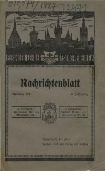 Elbinger Lehrergesangverein. Nachrichtenblatt, Nr. 3/4, Juli./Dez.1927
