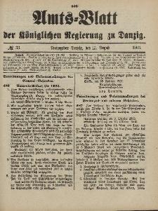 Amts-Blatt der Königlichen Regierung zu Danzig, 15. August 1903, Nr. 33
