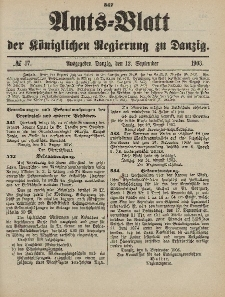 Amts-Blatt der Königlichen Regierung zu Danzig, 12. September 1903, Nr. 37
