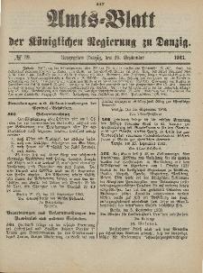 Amts-Blatt der Königlichen Regierung zu Danzig, 26. September 1903, Nr. 39