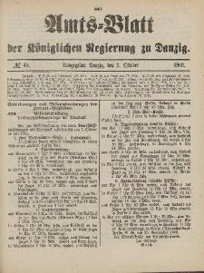 Amts-Blatt der Königlichen Regierung zu Danzig, 3. Oktober 1903, Nr. 40