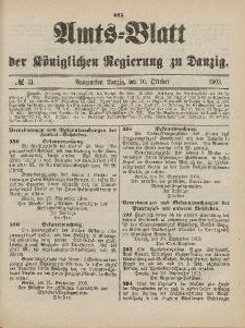 Amts-Blatt der Königlichen Regierung zu Danzig, 10. Oktober 1903, Nr. 41