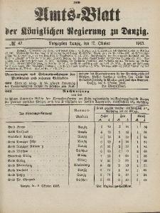 Amts-Blatt der Königlichen Regierung zu Danzig, 17. Oktober 1903, Nr. 42