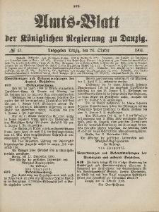 Amts-Blatt der Königlichen Regierung zu Danzig, 24. Oktober 1903, Nr. 43