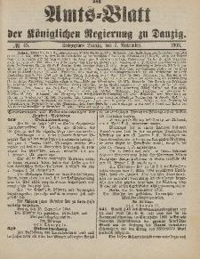 Amts-Blatt der Königlichen Regierung zu Danzig, 7. November 1903, Nr. 45